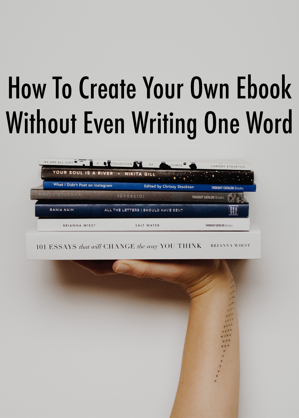 How To Create Your Own Ebook Without Even Writing One Word